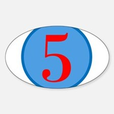Number Five Birthday Sticker (Oval)