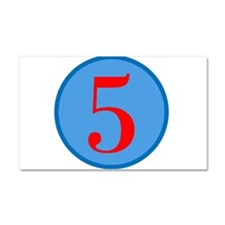 Number Five Birthday Car Magnet 20 x 12