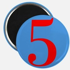 Number Five Birthday Magnet