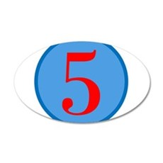 Number Five Birthday 22x14 Oval Wall Peel