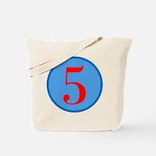 Number Five Birthday Tote Bag