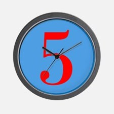 Number Five Birthday Wall Clock