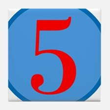 Number Five Birthday Tile Coaster