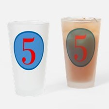 Number Five Birthday Drinking Glass