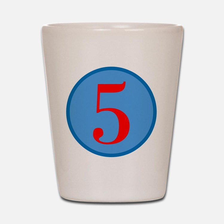 Number Five Birthday Shot Glass
