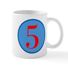 Number Five Birthday Mug