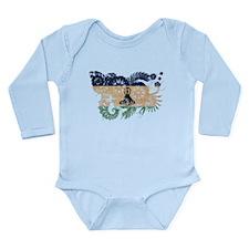Lesotho Flag Long Sleeve Infant Bodysuit