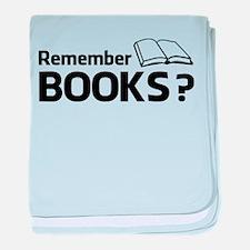 Remember Books ? baby blanket