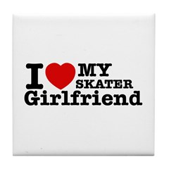 Cool Skater Girlfriend designs Tile Coaster