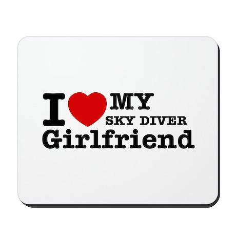 Cool Sky Diver Girlfriend designs Mousepad