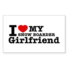Cool Snow Boarder Girlfriend designs Decal