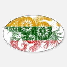 Lithuania textured flower aged copy.png Decal