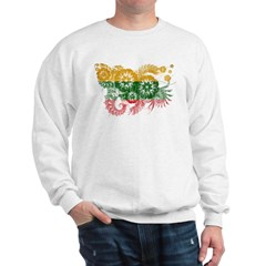 Lithuania textured flower aged copy.png Sweatshirt