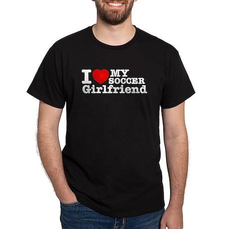 Cool Soccer Girlfriend designs Dark T-Shirt