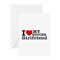 Cool Soccer Girlfriend designs Greeting Card