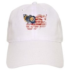 Malaysia textured flower aged copy.png Baseball Cap