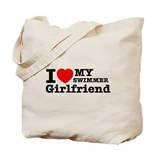 Cool Swimmer Girlfriend designs Tote Bag