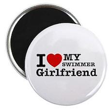 Cool Swimmer Girlfriend designs Magnet