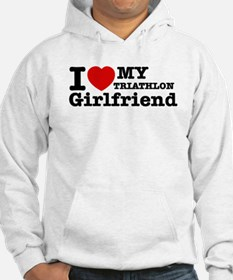 Cool Triathlon Girlfriend designs Hoodie