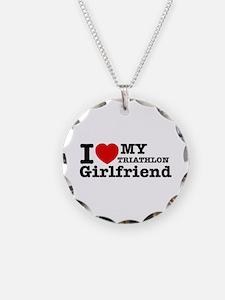 Cool Triathlon Girlfriend designs Necklace