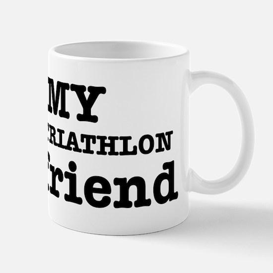 Cool Triathlon Girlfriend designs Mug
