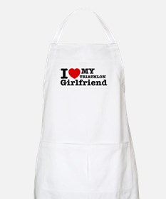 Cool Triathlon Girlfriend designs Apron