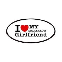 Cool Triathlon Girlfriend designs Patches
