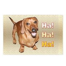 Ha Ha Ha Dachshund Dog Postcards (Package of 8)
