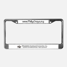 Cute Dogs greyhounds License Plate Frame