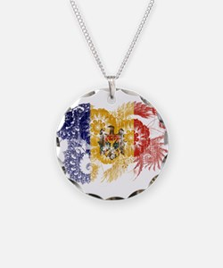 Moldova Flag Necklace
