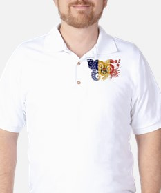 Moldova Flag Golf Shirt