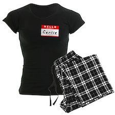 Carlie, Name Tag Sticker Pajamas