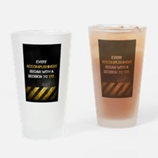 Decision to Try Drinking Glass