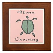 Honu Crossing (Pink) Framed Tile