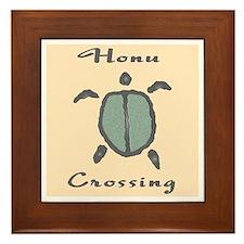 Honu Crossing (Peach) Framed Tile