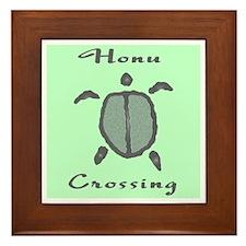 Honu Crossing (Mint) Framed Tile