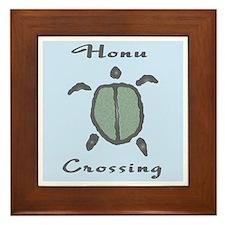 Honu Crossing (Light Blue) Framed Tile