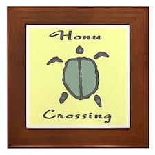 Honu Crossing (Yellow) Framed Tile