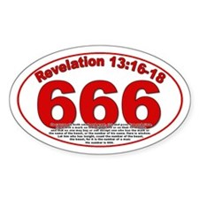 Revelation 13:16-18 Oval Decal