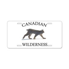 Canadian Lynx Aluminum License Plate