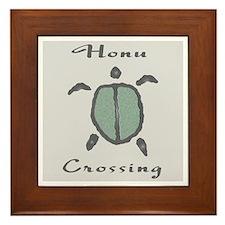 Honu Crossing (Gray) Framed Tile