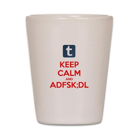 Keep Calm and KEYSMASH Shot Glass