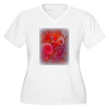 red abstract spiral T-Shirt