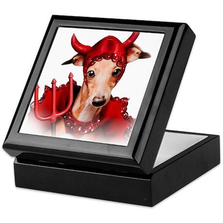 Italian Greyhound Devil Dog Keepsake Box