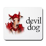 Italian Greyhound Devil Dog Mousepad
