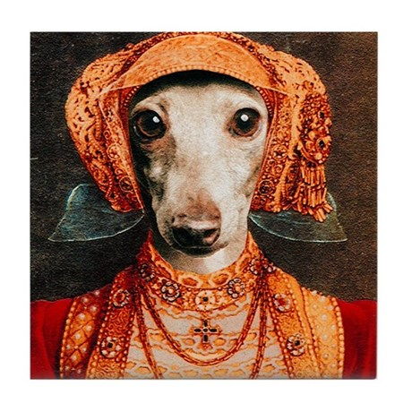 Italian Greyhound Elizabethan IG Tile Coaster