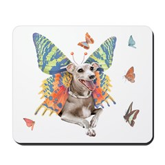 Italian Greyhound Butterfly Dog Mousepad