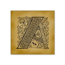 "Celtic Letter A Square Sticker 3"" x 3"""