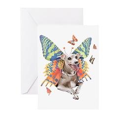 Italian Greyhound Butterfly Dog Cards