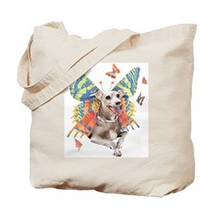 Italian Greyhound Butterfly Dog Tote